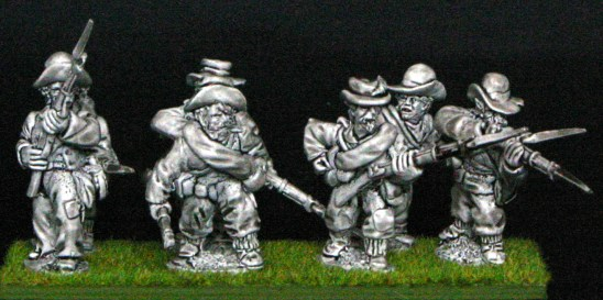 28mm american civil war Skirmish line in slouch.