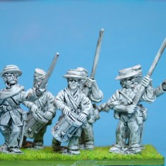 28mm louisiana Tiger Zouaves Command.