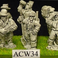 28mm American civil war Pioneers.