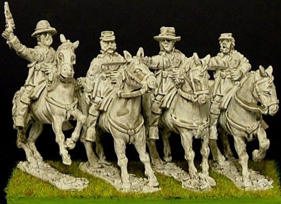 Mounted infantry officers (4).