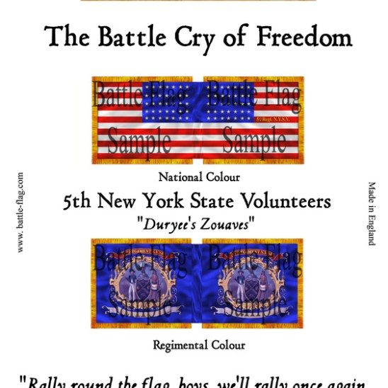 """5th New York State Volunteers. """"Duyree's Zoaves"""""""