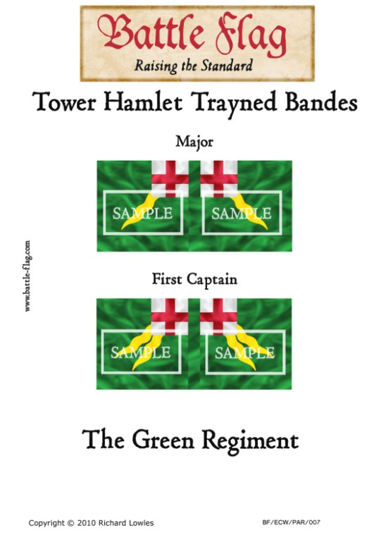 ECW/PAR/007 (B)Tower Hamlet Trayned Bande Green Regiment First