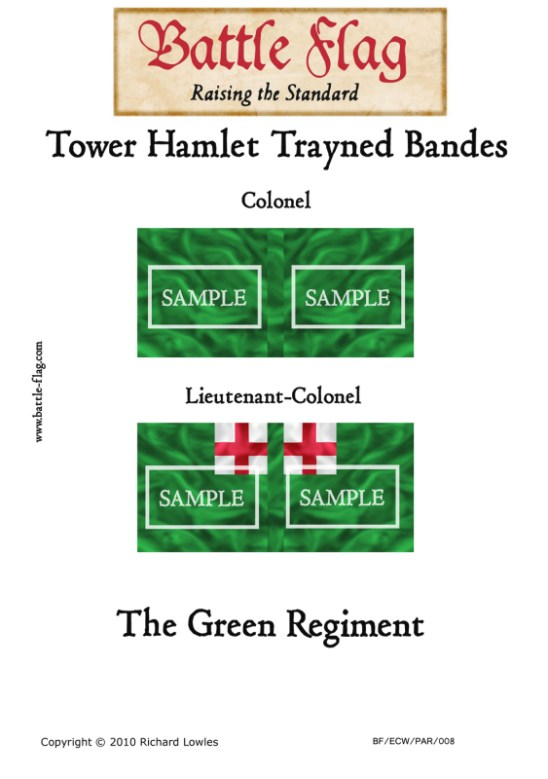 ECW/PAR/008 (C) Tower Hamlet Trayned Bande Green Regiment Colon