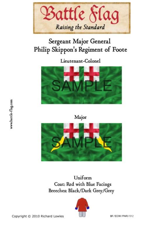 ECW/PAR/012 (A) Sergeant Major General Skippon's Regiment of Foo