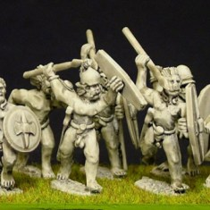 28mm ancient celtic or gallic Naked warriors (a)