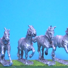 28mm charging horses