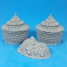 2 haystacks and dung heap.