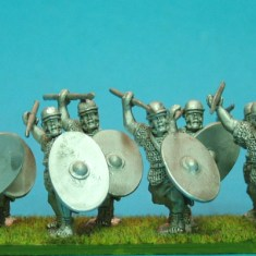 Auxilia,light pila & oval shield