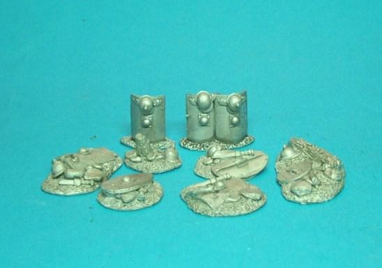 Shield stacks & battlefield debris