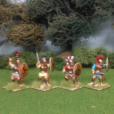28mm greek hoplites with swords
