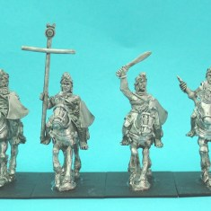28mm ancient indian cavalry command in light armour.