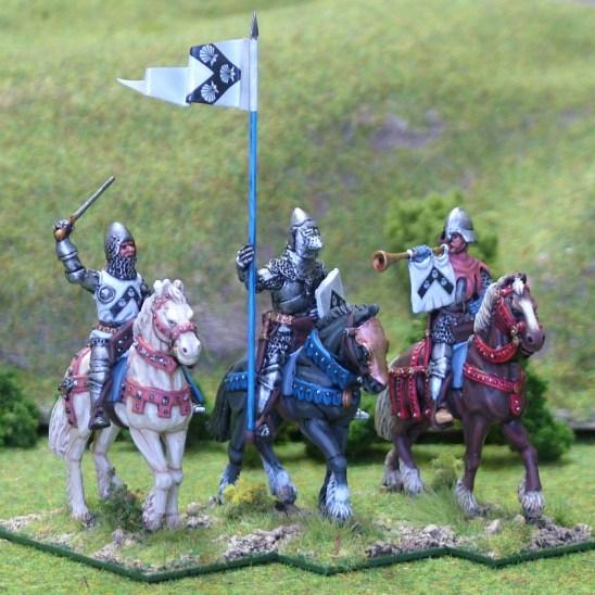 Mounted Knights Cmnd II unbarded horses