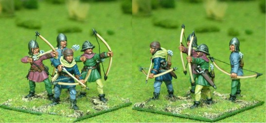 28mm late medieval Longbow men I