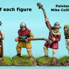 28mm late medieval Hussite polearm men I