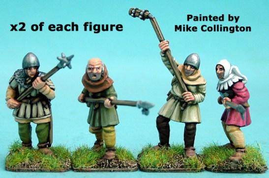 28mm late medieval Hussite Polearm men II