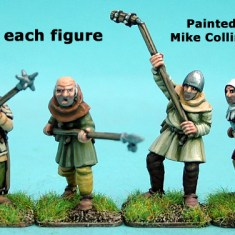 28mm late medieval Hussite Polearm men II