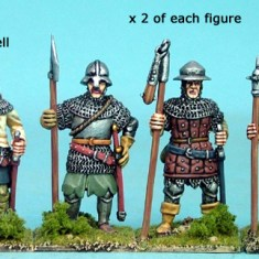 28mm late medieval Polearm men IV
