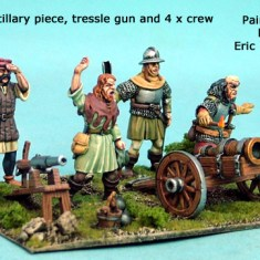 Artillery Gun, Trestle Gun and 4 Crew