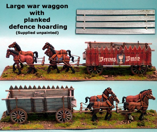 Large War Wagon with Planked Defence Hoarding