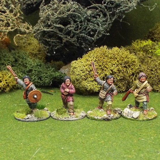 28mm Medieval Slingers bareheaded 1