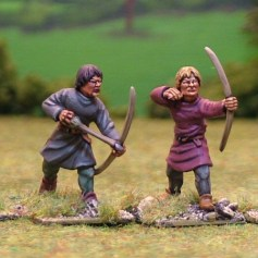 28mm bare headed medieval archers