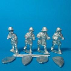 ME43 medieval Spearmen in aketon-gambeson 1
