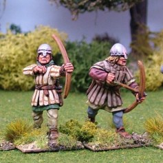 ME51b Archers in Aketon-Gambeson II Nasal Bar and Skull Caps