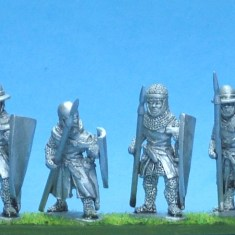 ME56 Foot knights-sergeants ass kettle helms, spears advancing