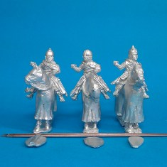 28mm Eastern Europe Mounted Knights 1,mail, lance upright, standing barded horses.