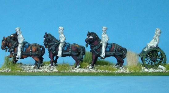 United States artllery limber and horse team (b)