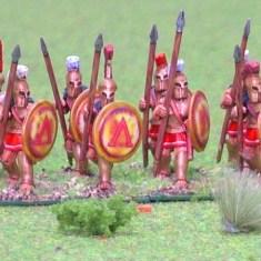 Spartan Hoplite, bell cuirass advancing.