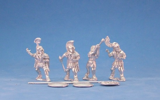28mm Greek Hoplite command in Linen Cuirass.