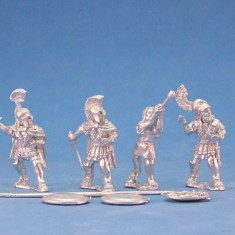 28mm Greek Hoplite command in Linen Cuirass.