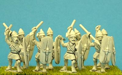 Numidian Infantry spear men miniatures