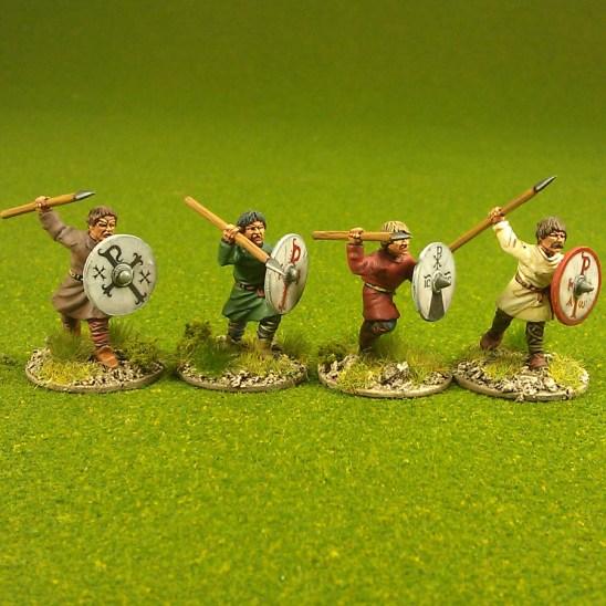 Javelin men, bareheaded (4)