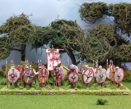 Warriors, unarmoured, standing,spears (24)