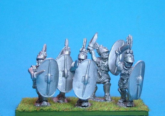 Triarii with swords attacking