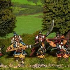 SAM06 Samurai with naginata defending.