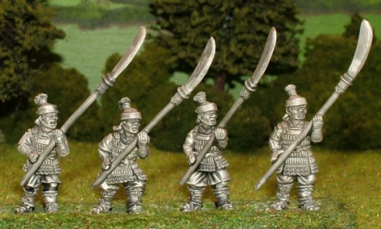 28mm samurai retainers with naginata.
