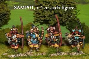 SAMP01 Samurai with bow. x 16 figures