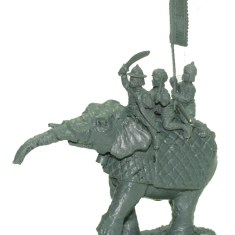 Command elephant, Noble with sword.