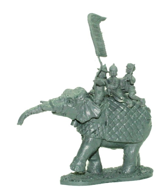 Command elephant ,Noble with bow.