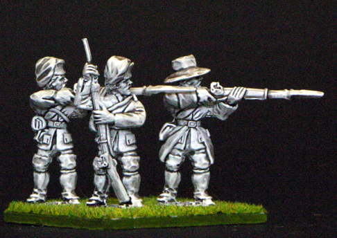 7YW08a French in campaign dress firing line