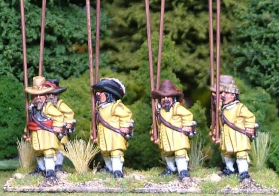 Thirty years war Unarmored pike men, soft hats
