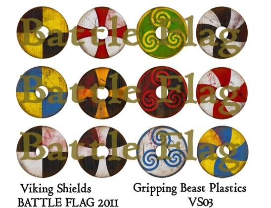 VS03 28mm Viking Shield designs