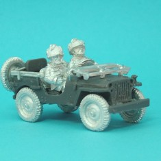 28mm ww2 british airborne jeep helmeted crew