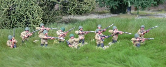 28mm ww2 Russian rifle squad 2