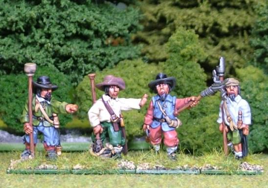 28mm thirty years war artillery Gun Crew 2 Firing