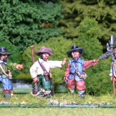 28mm thirty years war artillery Gun Crew 2 Firing