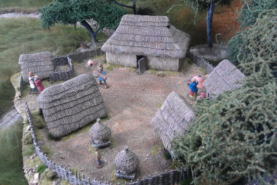 Dark Age farm,haystacks, dung heap and civilians deal.
